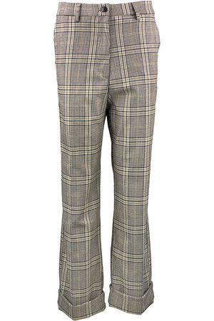 White Sand Women Wide Leg - Checkered Wide Leg Pants