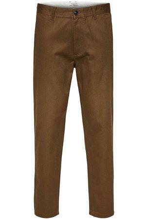 SELECTED Men Slim - Max slim fit trousers, Title: TEAK