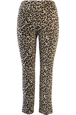 """Up Pants 67033 Techno 28"""" Leg Side Slit Ankle Trousers - Chica"""