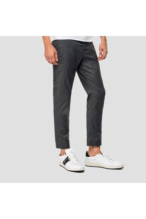 Replay Chino trousers with buttons, Colour: GREY
