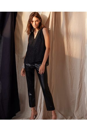 Graham and Spencer Velvet Honey Faux Leather Trousers