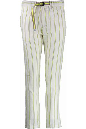 White Sand Marylin Pants - Off White / Fluo Yellow
