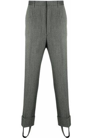 Prada MEN'S UP0122S2020R9F0031 GREY WOOL PANTS
