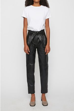 Just Female Sago leather trousers