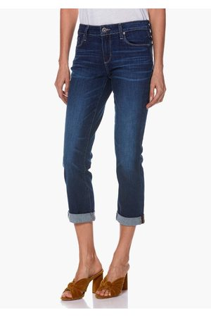 Paige Brigitte High Rise Slim Fit Boyfriend Jeans - Enchant
