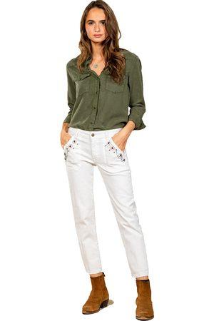 FIVE JEANS Women Straight - CELINE Straight Cut Stud Detail Pockets
