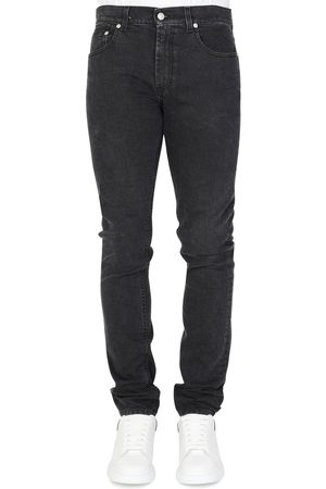 Alexander McQueen LEATHER BADGE JEANS