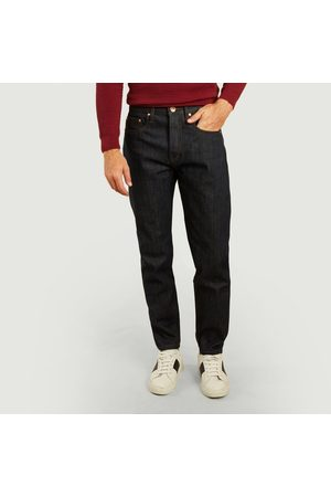 The Unbranded Brand Men Tapered - UB601 relaxed tapered 14.5oz selvedge jeans Raw