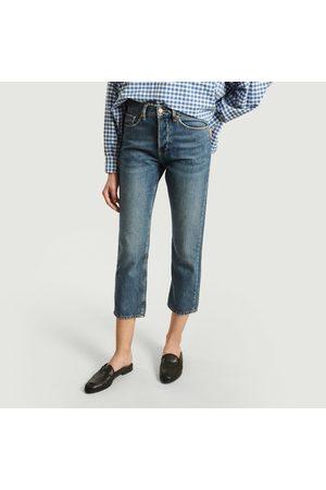 REIKO Women High Waisted - Milo High Waist 7/8 Length Jeans Délavage Bleu Medium