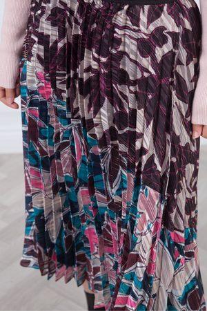 Derhy Women Printed Skirts - Philatelie Sunray Pleat Print Skirt