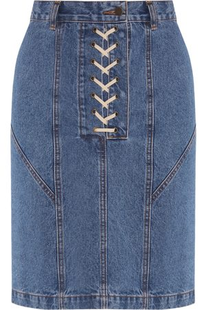 flow Denim Skirt