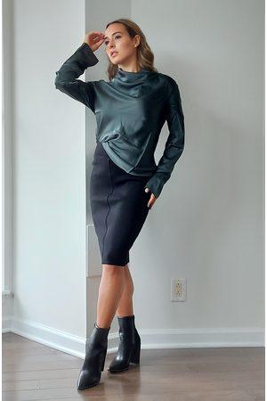 Maska Aurora Knitted Wool Pencil Skirt in