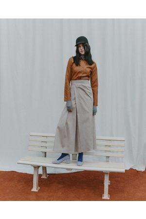 Fassbender Vegan Leather Skirt in Ivory