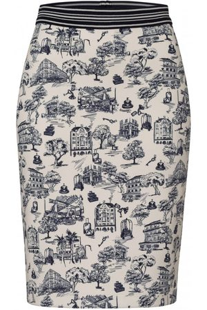 OUTLET Riani Midi Toille Print Skirt