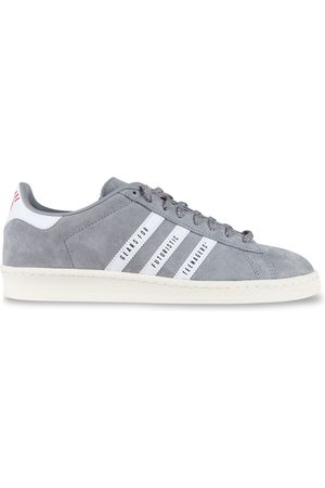adidas MEN'S FY0733 GREY SUEDE SNEAKERS