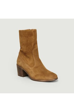 Sess n Women Ankle Boots - Ludd Ankle Boots Tobacco Suede Sessùn