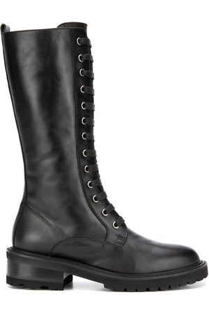 Via Roma WOMEN'S 3477MALIBUBLACK LEATHER ANKLE BOOTS