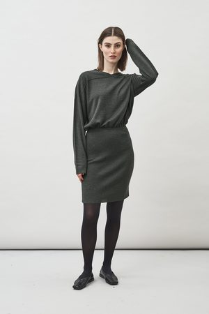 Maska Jade Long Sleeve knitted Dress in Seaweed