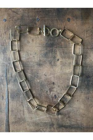 Collard Manson Rectangle link necklace