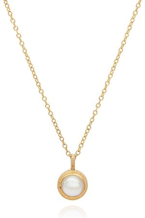 Anna Beck Small Pearl Pendant Necklace