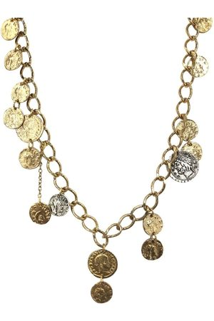 Tat2 Women's N661 Single Strand Roman Man Coin Necklace