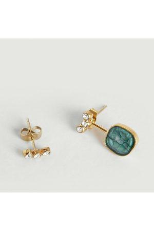 MEDECINE DOUCE Quartz Maxi Earrings Turquoise