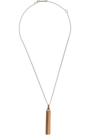 AMBUSH MEN'S 12111868BROWN BRONZE METAL NECKLACE
