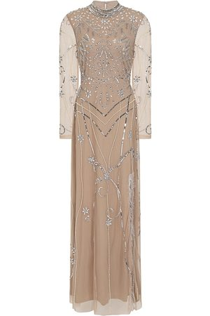 Frock and Frill Flora Embellished Maxi Dress