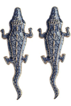Natia X Lako Large Crocodile Earrings