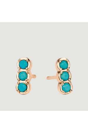 GINETTE NY Fallen Strip Earrings Pink