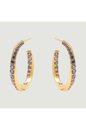 P D PAOLA Cavalier plated silver hoop earrings Cavalier PDPAOLA