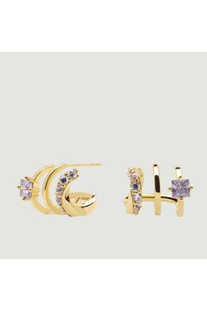P D PAOLA Royal Cavalier gold plated silver earrings Royal PDPAOLA