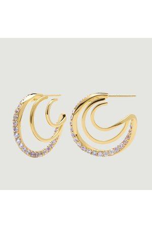 P D PAOLA Majestica Cavalier plated silver earrings Majestica PDPAOLA