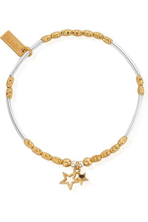 ChloBo Double Star Bracelet - Gold &