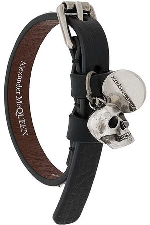 Alexander McQueen MEN'S 5544671AC9Y1000 LEATHER BRACELET