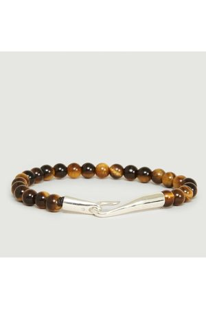 Orner Tiger Eye Pearls Bracelet Amber