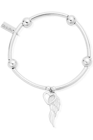 ChloBo Noodle Ball Open Heart and Angel Wing Bracelet SBNB00703