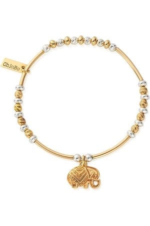 ChloBo Decorated Elephant Bracelet - Gold &