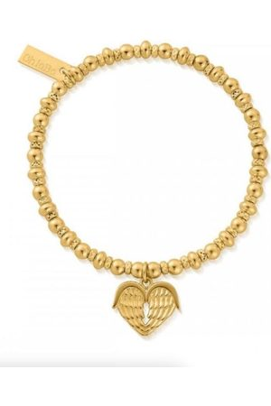 ChloBo 41 Gold Didi Sparkle Heavenly Heart Bracelet GBDS1024