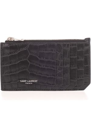 Saint Laurent SAINT LAURENT MEN'S 609362DZE0E1000 LEATHER CARD HOLDER
