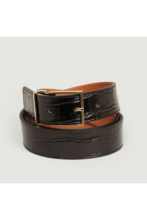 MAISON BOINET Varnished crocodile belt
