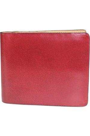 IL BUSSETTO Button Bi-Fold Wallet - Scarlet