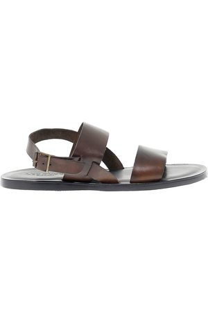 Leo Pucci MEN'S 9782BROWN LEATHER SANDALS