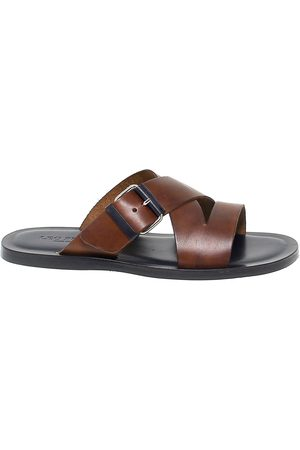 Leo Pucci MEN'S 6331BROWN LEATHER SANDALS
