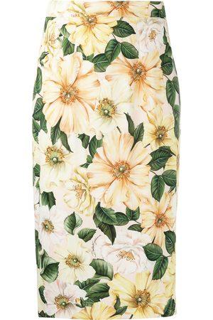 Dolce & Gabbana Floral-print mid-length skirt