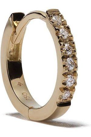 Feidt Paris 18kt yellow diamond medium creole hoop