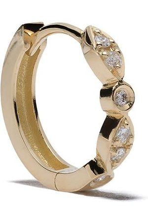 Feidt Paris 18kt yellow Charnière diamond small creole hoop