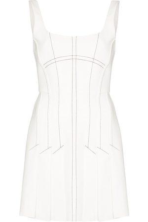 DION LEE Contrast stitching mini dress