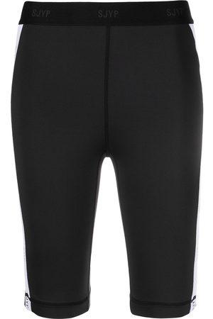 SJYP Side-stripe biker shorts