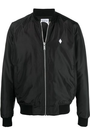 MARCELO BURLON Embroidered logo bomber jacket
